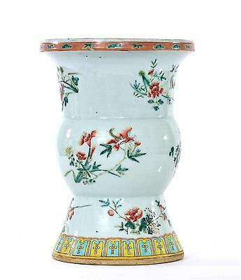 19th Century Chinese Famille Rose Porcelain Vase with Flowers 31 CM
