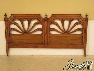 28608: KARGES King Size French Walnut Bed Headboard