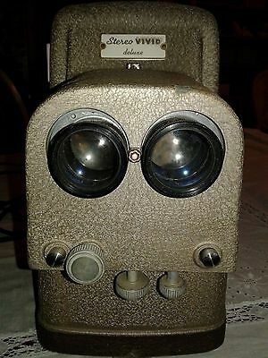 TDC Stereo Vivid deluxe 716A Stereo Projector Tested Good Works no slide holder