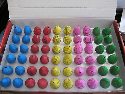 Bulk lot 60 Hatching Growing Dinosaur Eggs Magic Pet Party Favour Fun Toy NEW
