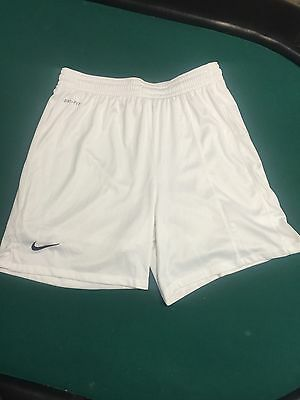 Nike Fit Dry White Soccer Shorts Boys Youth Kids Size Extra Large