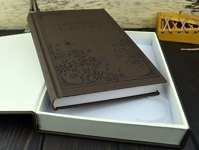 New Original Vintage Classic Diary Notebook Journal Notepad Hard Paper Coffee