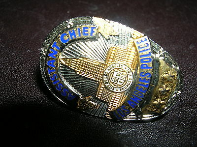 """Los Angeles Police Assistant CHIEF 3 stars CALIFORNIA  Mini Badge PIN Tie Tac 1"""""""