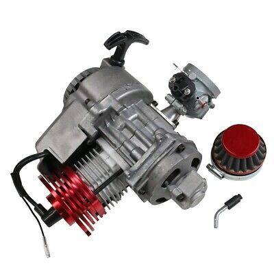 2 Stroke High Performance Pull Start Engine Motor Pocket Bike Scooter Atv 49Cc