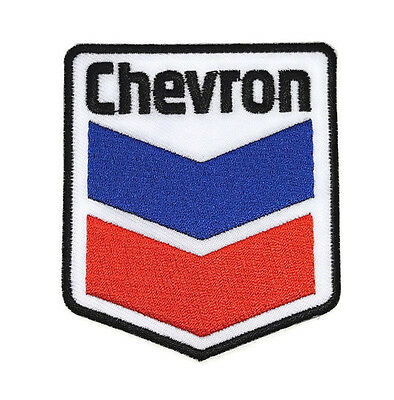 1xNEW CHEVRON OIL GAS CAR RACING LOGO SYMBOL SEW IRON ON PATCH SHIRT FORCE PO552