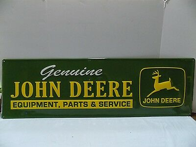 John Deere Sign   ADVERTISING  FARM COUNTRY MAN CAVE TRACTOR  (R40-5)