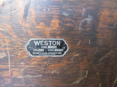 Antique Weston Circuit Tester in nice Wood Box Case