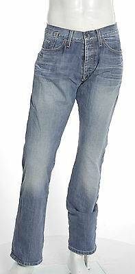 Men's G-STAR RAW Blue Cotton Straight Jeans Size 34X32