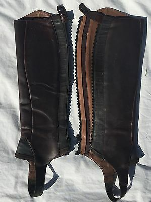 Brown Leather Horse Riding Gaiters
