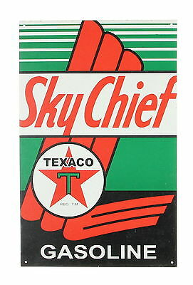 TEXACO Original Tin Sky Chief Gasoline Sign