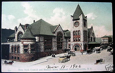 Syracuse NY~1906 New York Central Hudson River Station
