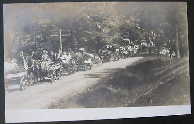 1900's AMERICANA~Fourth of July PARADE ?~Buggy~  RPPC