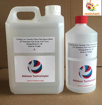 Ultra-Clear High Gloss Epoxy Resin for Kitchen Worktops: 2kg Kit