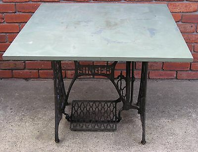 Antique (circa 1885) Singer Sewing Machine Base with Formica Top