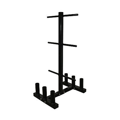 Weight Plates / 6 Olympic Barbell Storage Rack - Weight Tree - Weights Stand