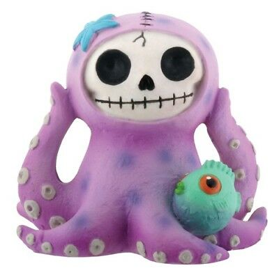 FurryBones Octopee Figurine Octopus Purple Goth Skeleton Skull Cute Cool Gift