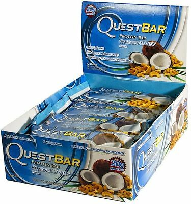 Quest Nutrition Protein Bars 12 Pack - Coconut Cashew (October 2017 Dated)- NEW