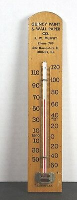 Vintage  Advertising Thermometer Quincy Paint & Wall Paper Co., Quincy, Ill