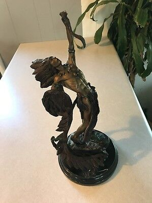 Antique/Vintage Bronze (?) Statue of Native American Warrior