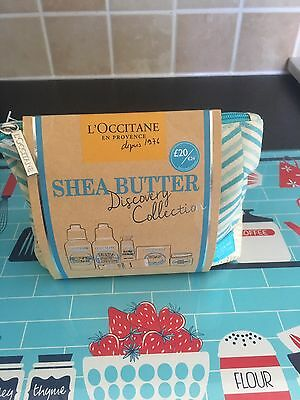 L'occitane Shea Butter Discovery Collection & Make Up Bag New & Unopened Rrp £20