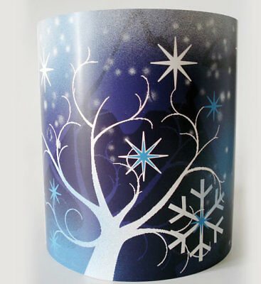 Frozen Wonderland, Blue and White Ceiling Light Shade
