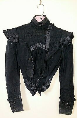 Victorian Vintage/Antique Mourning Blouse
