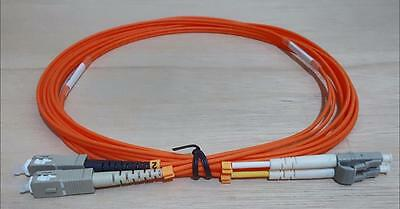 SC to LC 62.5/125 Multimode Fibre Optic Patch Lead Cable 3m