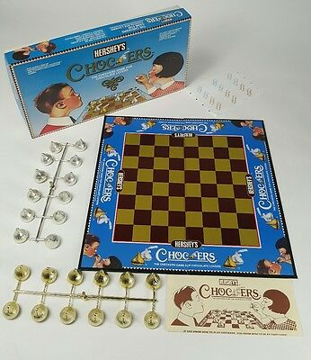 Hershey Chocolate Chocers 1991 Complete Checkers Game Collectible Pa Candy Toy