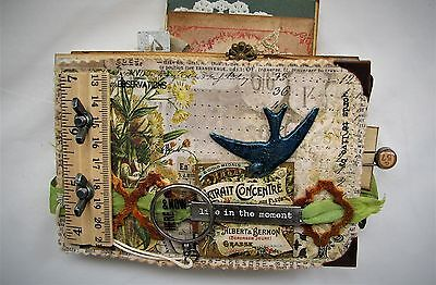 Mixed Media Fabric Collage Album Altered Journal Tammy Tutterow Tim Holtz