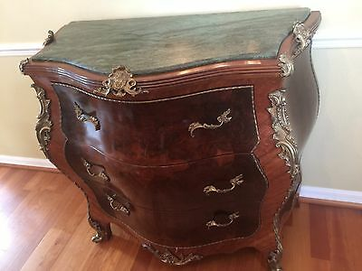 Louis XV Style Bombe Commode Chest of Drawers Marble Top. Moving out Price!!!!!