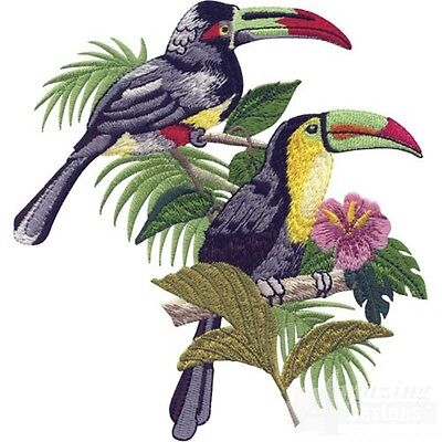 40 Tropical Birds and Bloom Designs for Machine Embroidery