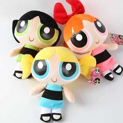 "2017 New 8"" Powerpuff Girls Doll The 1999 Cartoon Network Plush Toy Set of 3"