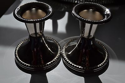 Pair of Vintage Silver Plate candlesticks.