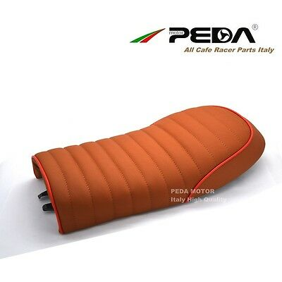 Cafe Racer Seat Brown Red Pleating Brat Saddle for Honda CB Yamaha SR Suzuki GS