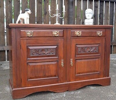 Fabulous Arts and Crafts Sideboard Home Bar Antique Chiffonier Victorian Dresser