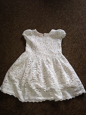 Girls White Lace Dress 4-5yrs