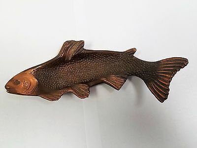 Awesome Vintage Solid Bronze/Copper Trout Fish Tray