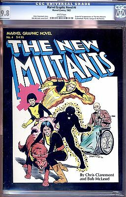 Marvel Graphic Novel #4 Cgc 9.8 Wp Origin And 1St Appearance Of The New Mutants!