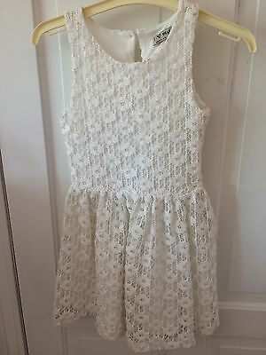 Girls White Lace Dress By Next Age 6yrs