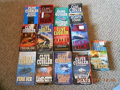 Lot of 13 Paperback Books By Clive Cussler...Pitt, Austin, & Oregon