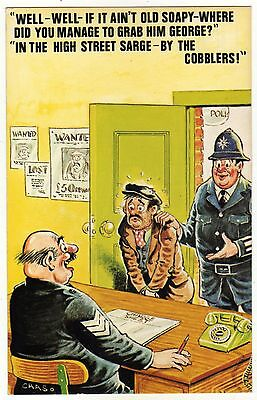 """in The High Street Sarge - By The Cobblers"" Bamforth Postcard #796 Saucy Humour"
