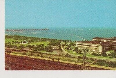 Vintage Postcard Airview of Chicagos Lake Front