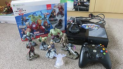 X-Box 360 Console + 2 Wireless Controllers With Disney Infinity Game & Figures