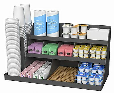 Cup and Lid Holder Organizer Coffee Stand Station Office Rack Dispenser Large