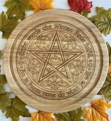 Handcrafted Wooden Wheel Of The Year Kitchen Board ~ Pagan ~ Wicca