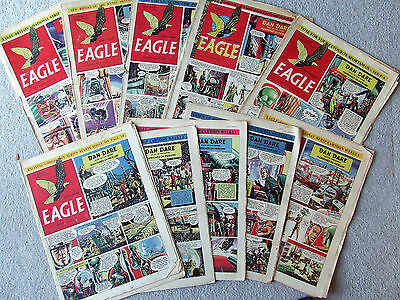 Eagle Collection of 10 early. vol.3 Nos.35to46 1952 Dan Dare Marooned on Mercury