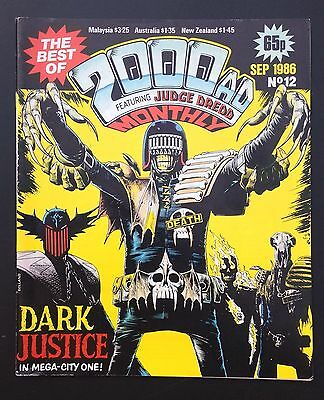 The Best of 2000ad Featuring JUDGE DREDD Monthly Comic Magazine # 12 Sep 1986 fn