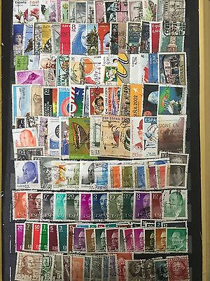 Large Lot Spain Espana Stamps All Different Used