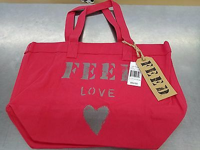 NWT: FEED Projects Feed Love 100% Cotton Carry-All Tote - 18W x 13T x 5