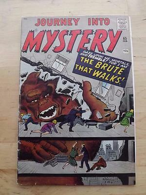 Journey Into Mystery #65 Vg+   Big Pics Strict Grading Combined Postage